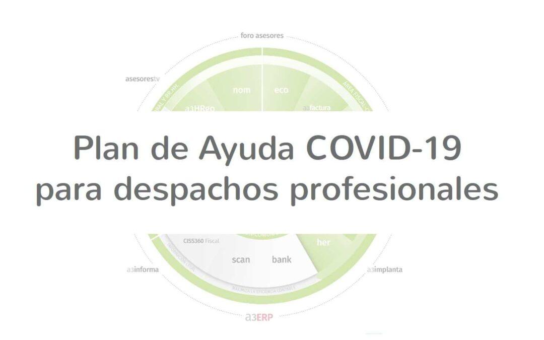 Plan de ayuda COVID19 para despachos profesionales